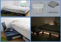 Łóżko z palet. Zobacz projekt!