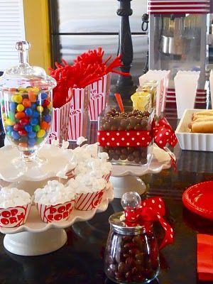 Movie Party Treats & Outdoor Movie = Great idea for an upcoming B-Day!