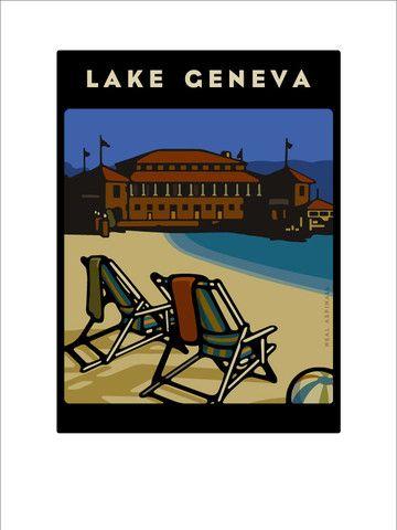 Riviera / Lake Geneva Poster