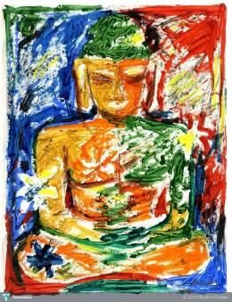"""""""Abstract Buddha"""" #Creative #Art in #painting @Touchtalent"""
