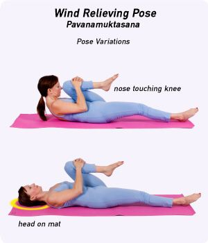 gas relief  yoga postures gentle yoga hatha yoga for