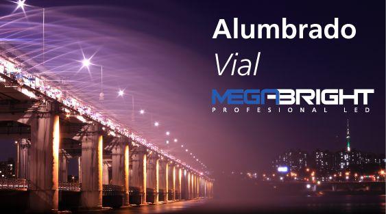 Viaja seguro con tu camino iluminado por Megabright. Conoce la tecnología de nuestra luminaria vial