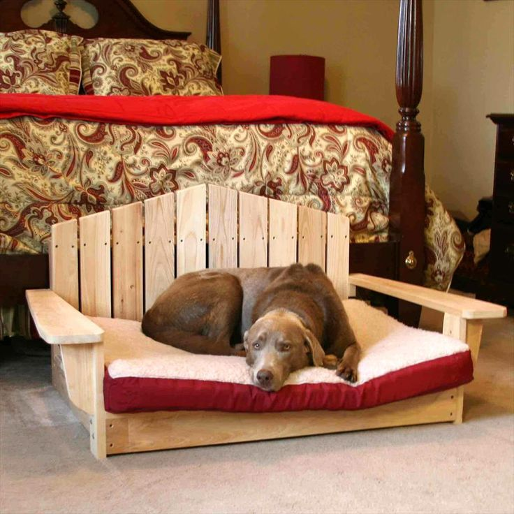 #Adirondack dog bed - 40+ DIY Pallet Dog Bed Ideas - Don't know which I love more | 101 Pallet Ideas