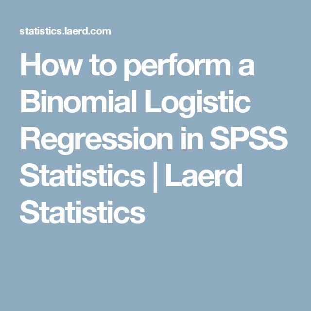 How to perform a Binomial Logistic Regression in SPSS Statistics | Laerd Statistics