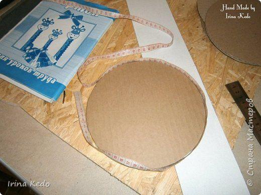 Мастер-класс Плетение Создаём форму нужного размера для плетения бумажными трубочками Картон фото 3
