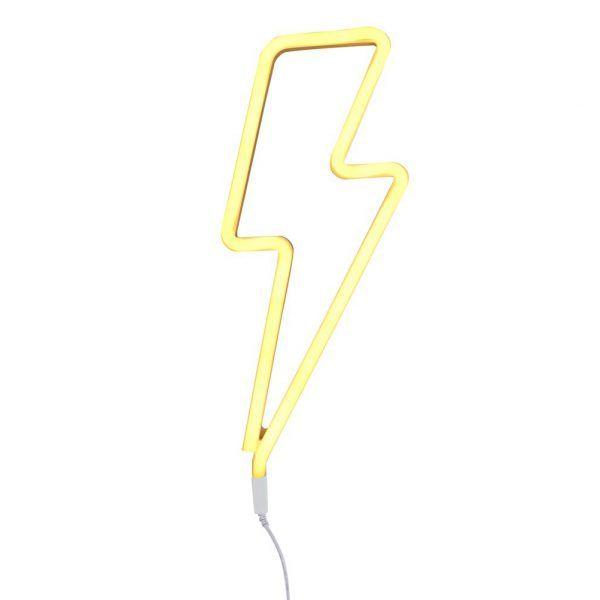 LUZ ESTILO NEÓN – RAYO AMARILLO €59  /  Una silueta de rayo en color amarillo para darle un toque Rock and Roll a tu deco. Estas luces simulan los antiguos letreros de neón, tan retro, pero adaptados a la moderna y ecológica tecnología LED. #liderlamp