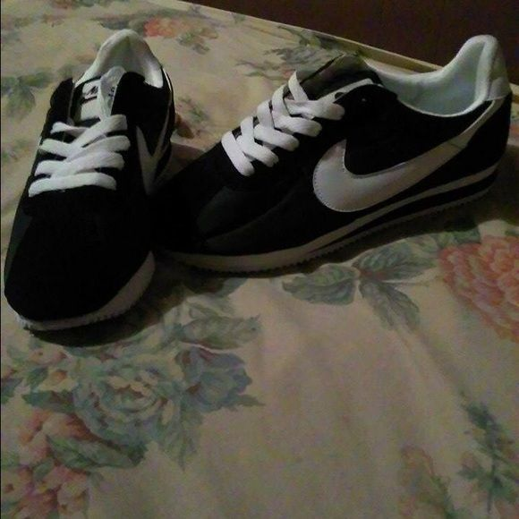 Nike Cortez's Black and white Shoes