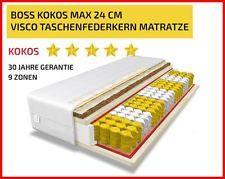 BOSS MAX 24CM! 9 ZONEN KOKOS TASCHENFEDERKERN MATRATZE 140x200 LIEFERZEIT 3 TAGE