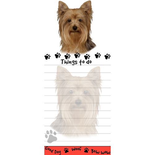 Yorkshire Terrier Things To Do List Pad