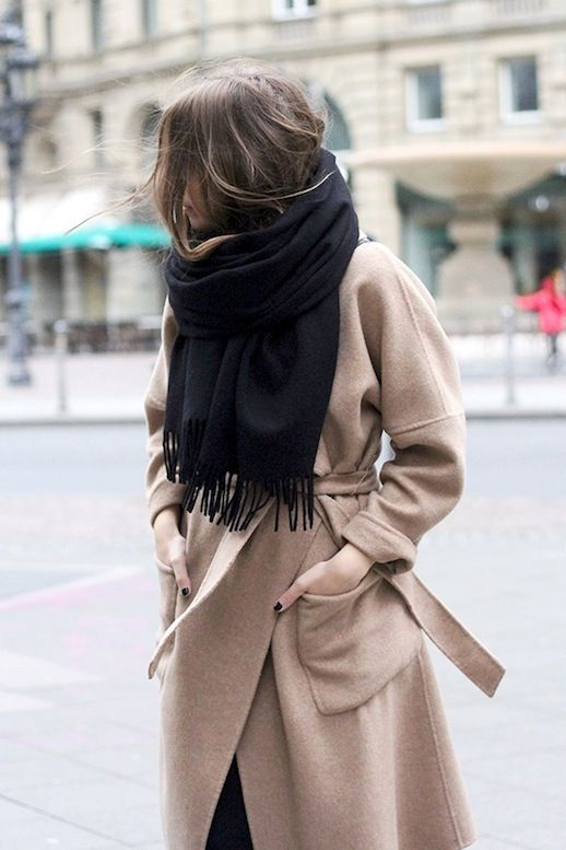 A Blogger's Effortlessly Chic Way To Accessorize A Wrap Camel Coat