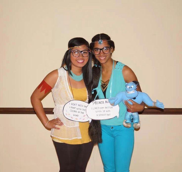 hipster disney princess halloween costume pocahontas jasmine genie - Hipster Halloween Ideas