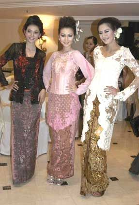 Models in Kebaya...Indonesian dress.
