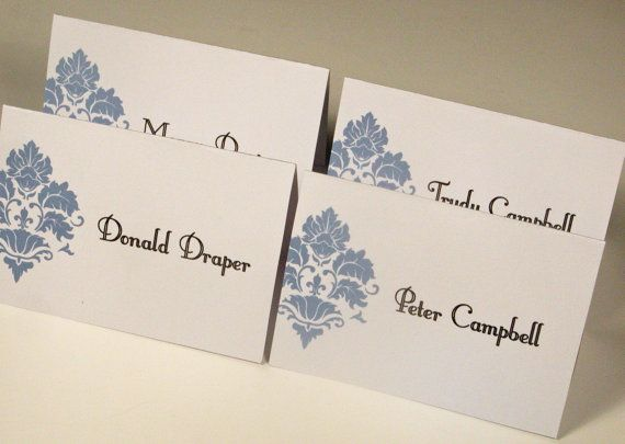 Damask Printable Wedding Place Cards by WhenIWasYourAge on Etsy, $5.00