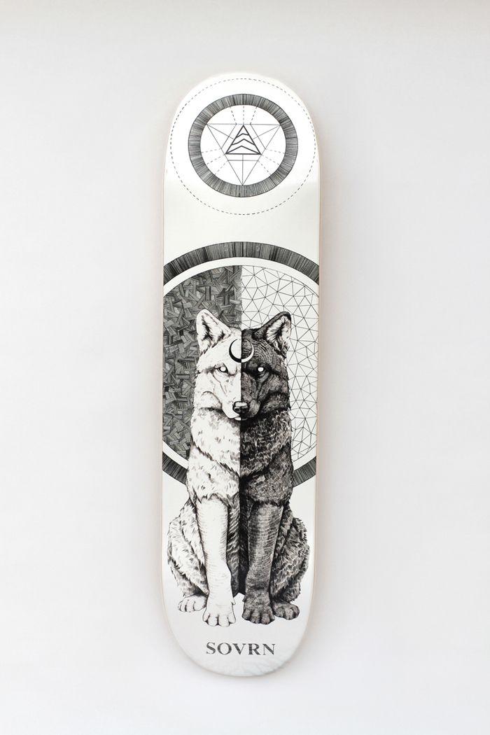 SOVRN Skateboard Decks http://www.sprhuman.com/2014/02/sovrn-skateboard-decks/