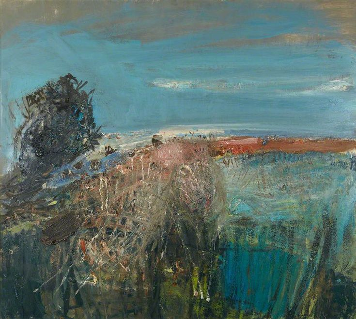 Joan Eardley (1921–1963). A Field by the Sea – Summer, c.1962 Oil on board, 91.4 x 101.6 cm - Royal Scottish Academy of Art & Architecture