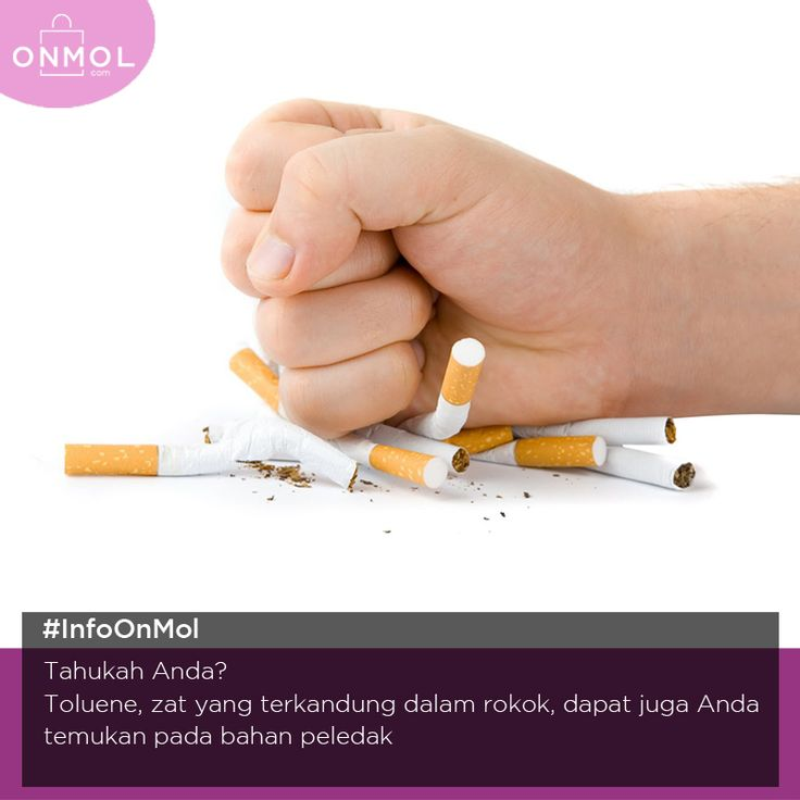 Wah! Ternyata zat - zat pada rokok juga terdapat pada bahan peledak ya. Yuk, hindari rokok dan mulailah hidup sehat dengan berolahraga. Cek dsini.. #OnMolID #Info #Fakta #Tips #Kesehatan #Rokok