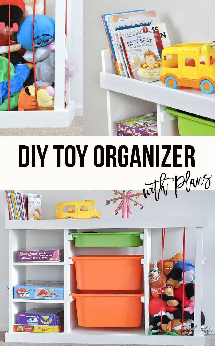 Love This Easy Diy Toy Organizer Idea For Playroom Can Make One For The Living Room With Simple Bi Toy Organization Diy Diy Toy Storage Toy Storage Solutions