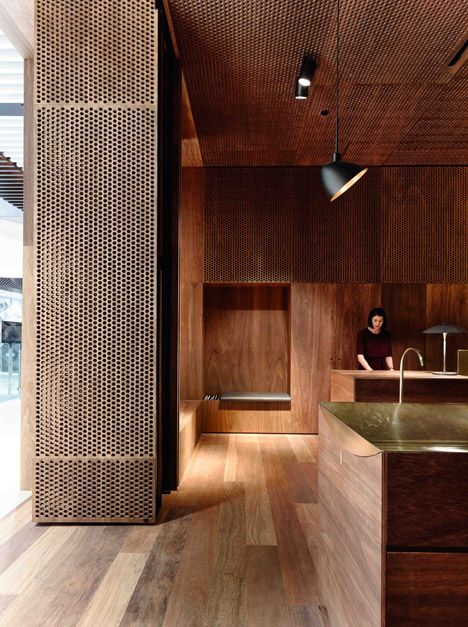 Dark Australian Timber Lines Aesop Melbourne Store By Kerstin Thompson Architects | Decor 10 Creative Home Design. Lighting by PSLab.