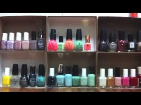 How to turn your empty Birchboxes into nail polish holders