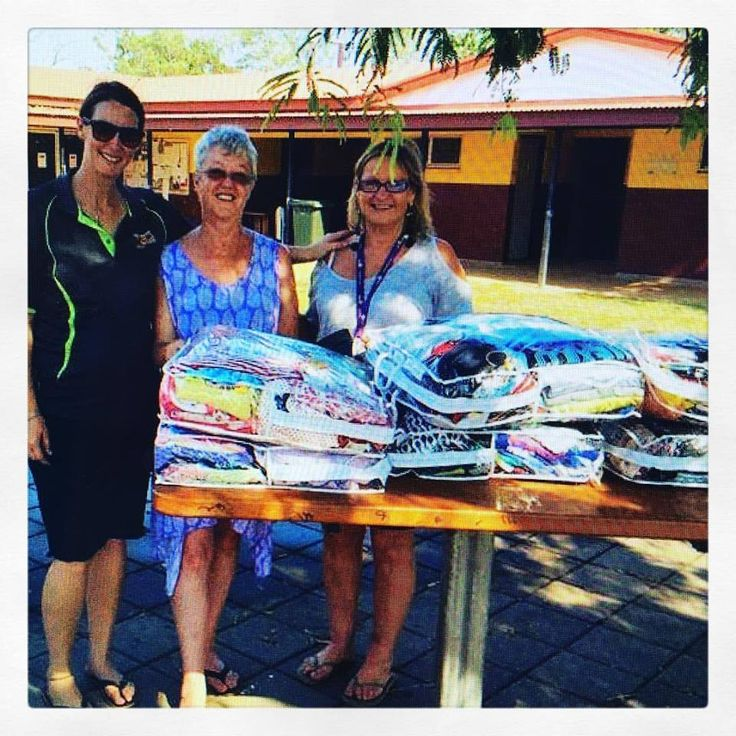 St Kilda Mums volunteer Jill took six clothing bags to West Arnhem Land recently where they were distributed to children through the Gunbalanya women's safe house. Thanks to Thursday's gorgeous grannies who packed the bags