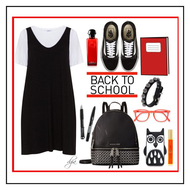 """""""Back to school"""" by dgia on Polyvore featuring Zizzi, Vans, MICHAEL Michael Kors, Marc by Marc Jacobs, Pentel and ABS by Allen Schwartz"""