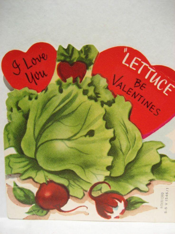 701 best Vintage valentine Cards Foods Cooking images on – Food Valentines Cards