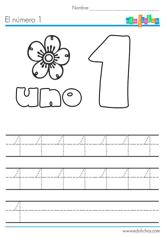 Ficha para aprender los números del 1 al 5. Aprender a contar y a relacionar los números escritos con grupos de elementos de la misma cantidad. Coloreable