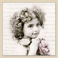 Serwetka do decoupage French Girl Vintage - sklep Decoupage Art.pl