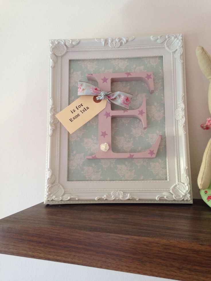Personalised girls nursery decoration