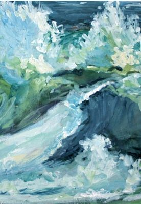 Waves Of Watercolor.  JUST LOVE THIS- reminds me of the summer Dad took us to California I was 14 almost 15, my whole world changed after that summer, I lived sorrow from then on. Praise God He never let sorrow win.