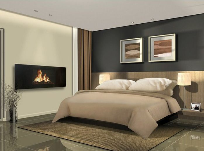 The perfect fireplace for every room electricfireplace electric fireplaces in real homes for Bedroom electric fireplace ideas