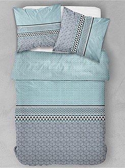 9171c7bf725 Ropa de cama adulto - Juego de cama doble con estampado gráfico - Kiabi 28€