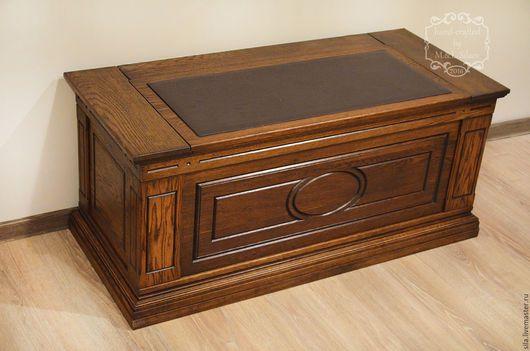 Сундук. Деревянный сундук для приданного из массива дуба. Дубовый сундук. Сундук из дерева. Деревянный сундук. Мебель. Мебель из массива. Деревянная мебель. Мебель из дуба. Дубовая мебель.