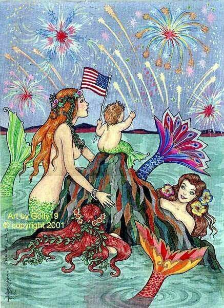 MERMAIDS ON THE 4th OF JULY.