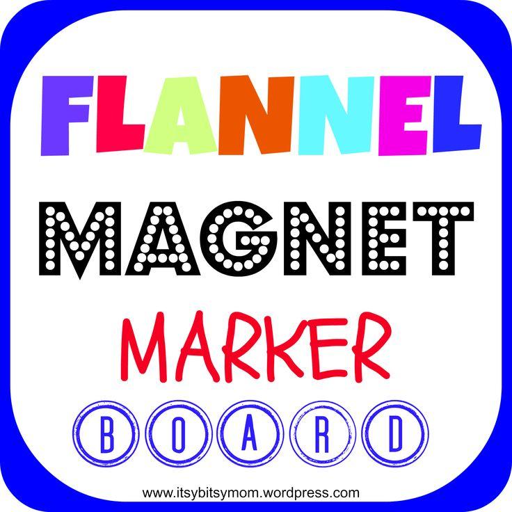 Flannel/Magnet/Marker Board | itsybitsymom