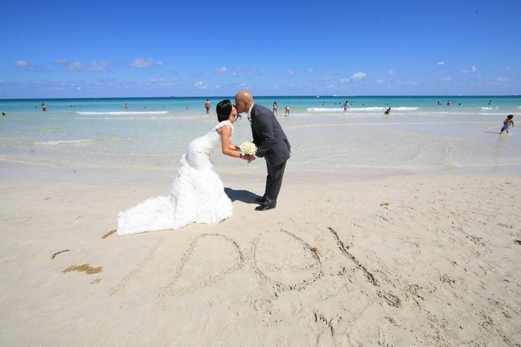 South beach wedding  www.ronwoodphoto.com