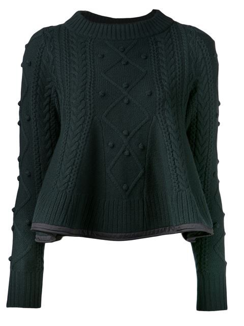 Sacai Luck Peplum Knit Sweater - Kirna Zabête - Farfetch.com