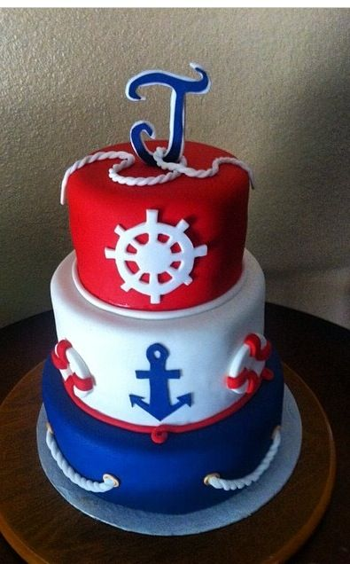 Sailor Baby Shower Cake