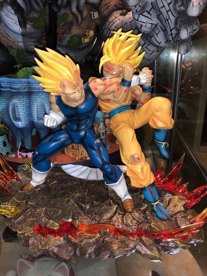 Dragon Ball Z Dbz Super Saiyan Goku Vs Frieza Statue Gk Resin Figure In Stock Toys & Hobbies