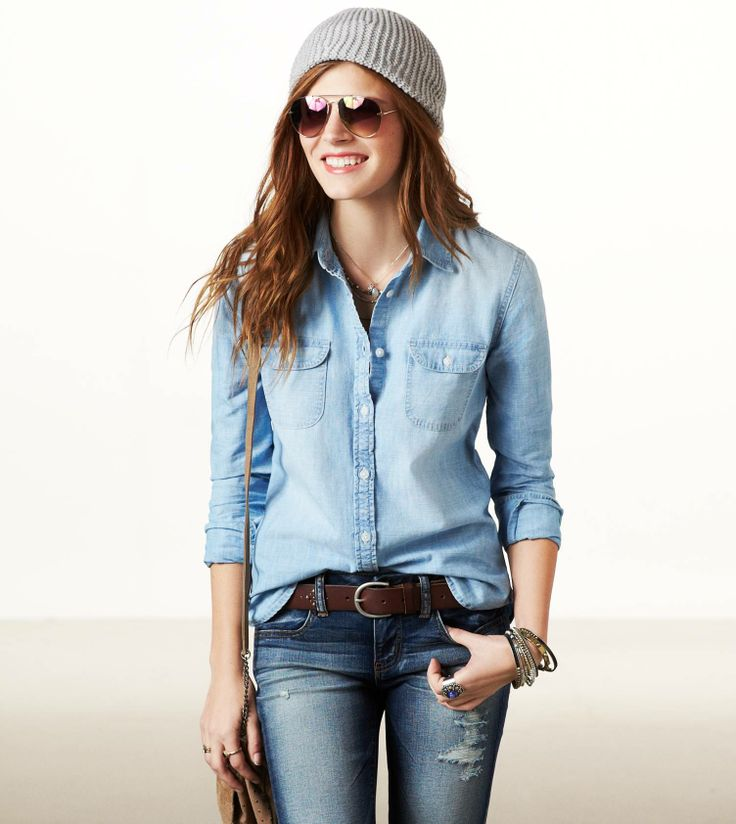 143 best How to wear a Chambray Shirt images on Pinterest ...