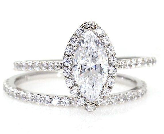 Allurez 14kt White Gold Oval Tanzanite & Halo Diamond Engagement Ring - UK G 1/4 - US 3 1/2 - EU 45 3/4 RiOnnIq56