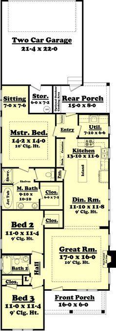 3 Bedroom, 2 Bath Cottage House Plan – #ALP-09CH -…