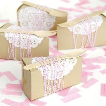 Cute Cake Slice Box for Party Favours