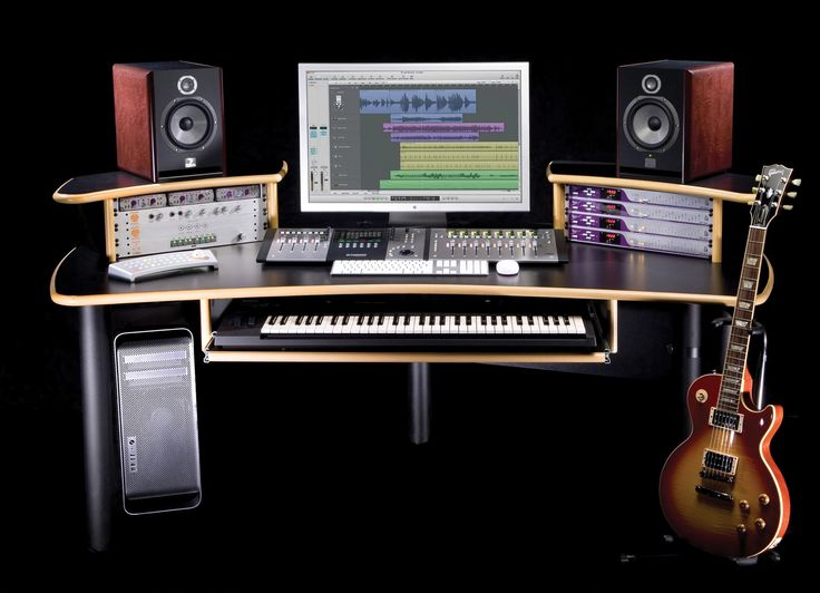 KK Audio A1 Edit Desk (Black w/ Lite Edge) | Sweetwater.com