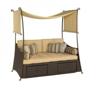 hampton bay kampar woven daybed lovin livin outside pinterest