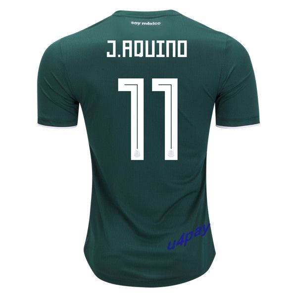 Javier Aquino 11 2018 FIFA World Cup Mexico Home Soccer Jersey
