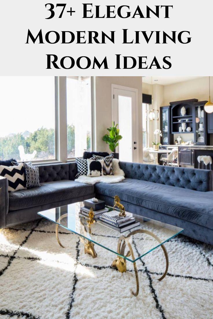 37 Elegant Modern Living Room Ideas Blue Sofa Secti
