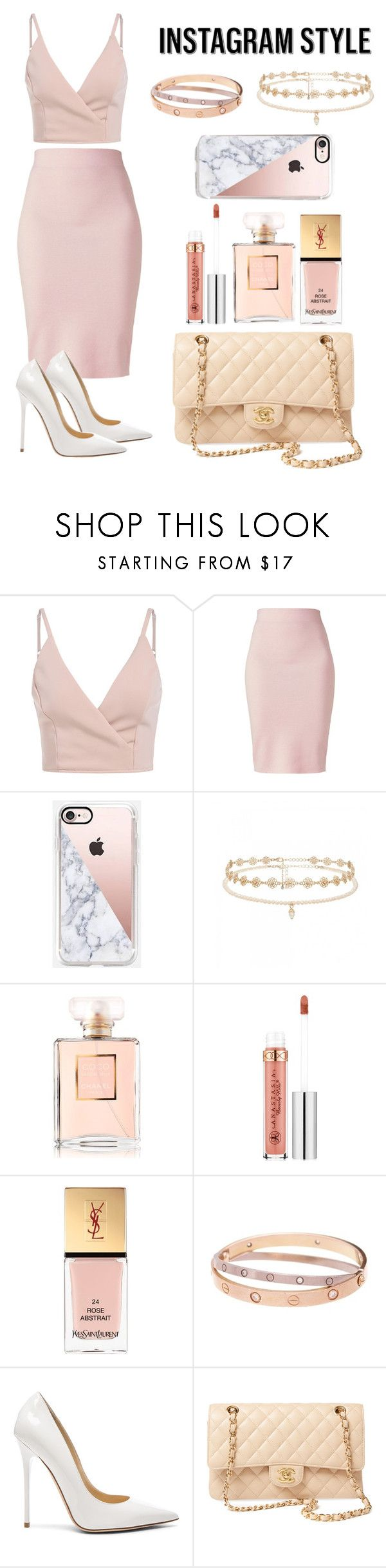 """""""Insta Ready"""" by cindyc111002 ❤ liked on Polyvore featuring Winser London, Casetify, Forever New, Chanel, Anastasia Beverly Hills, Yves Saint Laurent, Cartier, Jimmy Choo, 60secondstyle and PVShareYourStyle"""