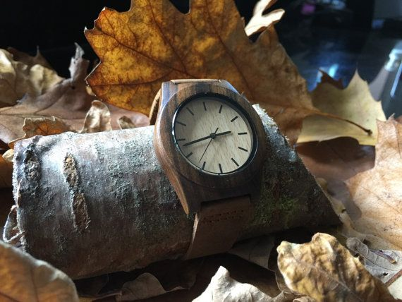 Personalised wooden watch by Whatnotwoodcraft on Etsy