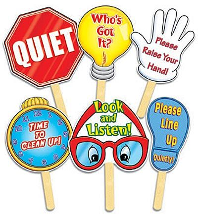 Image detail for -Behavior Management.  Cute signs for getting class attention. 8393 LUCAS